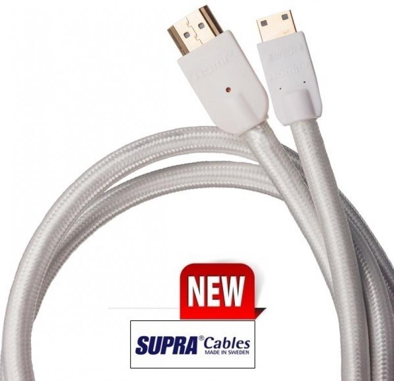 Kabel s podporou HD-1080p-v1.4 SUPRA by JenTech HDMI-MINI C- v2.0, 2m