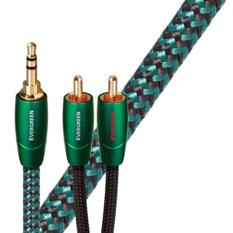 Audioquest Evergreen JR 2 m - audio kabel 3,5 mm jack samec - 2 x RCA