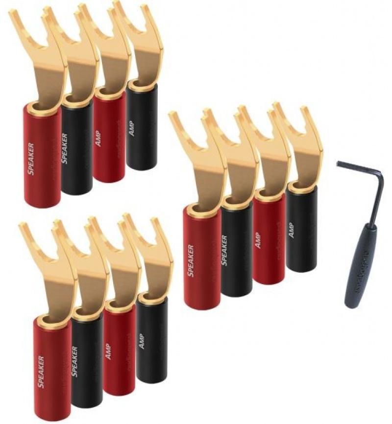 Audioquest SureGrip 100 vidličky zlaté - set 12 ks