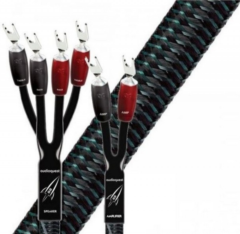 Audioquest Rocket 88 SBW-Single Bi-Wire vidličky stříbrné-2,5 m
