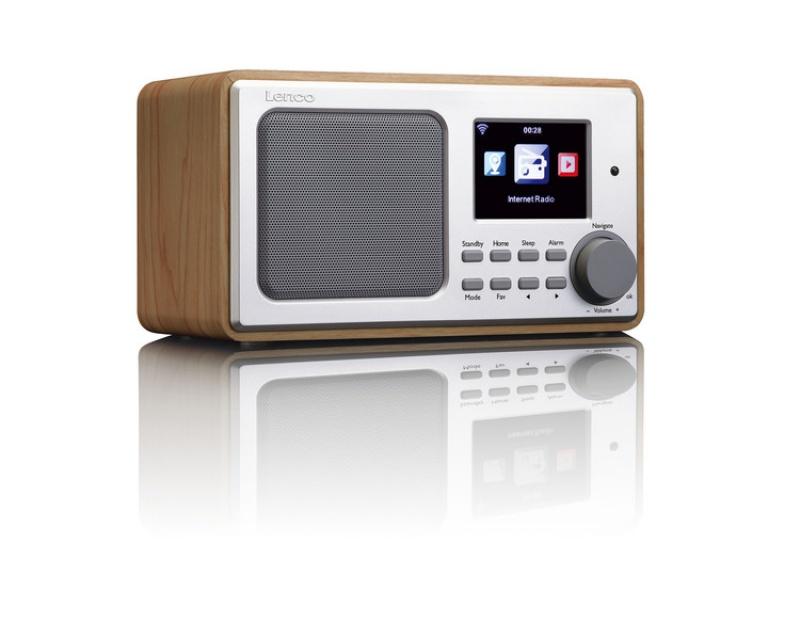 Internetové radio Lenco DIR-100 dřevo - vystaveno na studiu