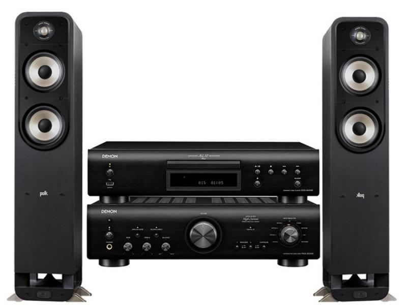 Denon PMA-800NE+Denon DCD-800NE + Polk Audio S55e Black