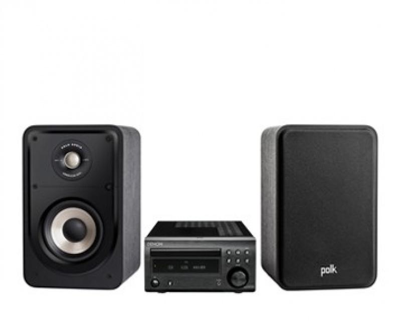Denon RCD-M41DAB + Polk Audio S15e Black