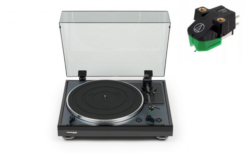 THORENS TD-102A Black + Audio-Technica AT-VM95E