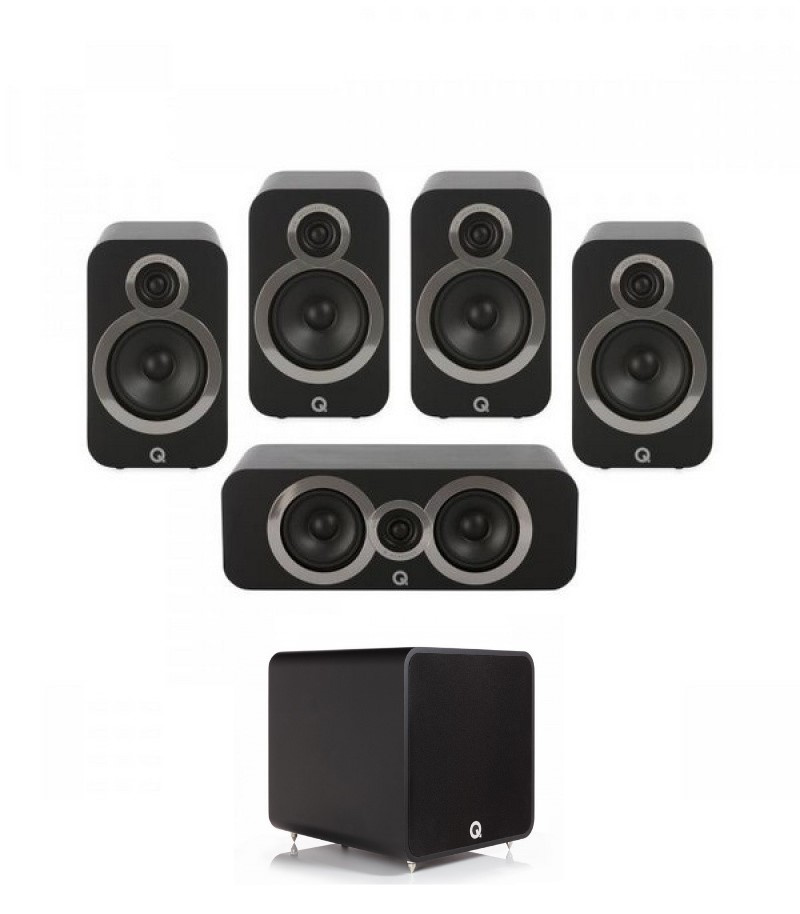 Q Acoustics 3020i PLUS 5.1 Carbon Black