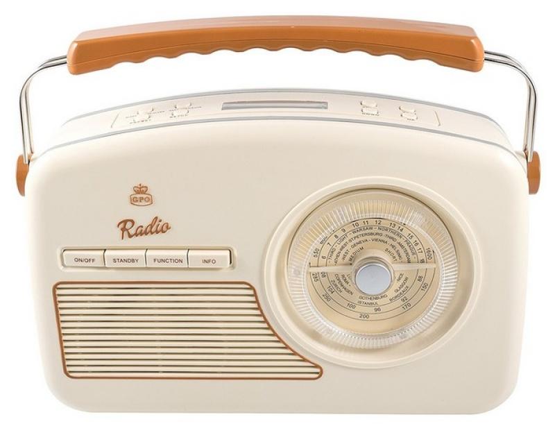 GPO Rydell Nostalgic DAB Radio Brown And Cream
