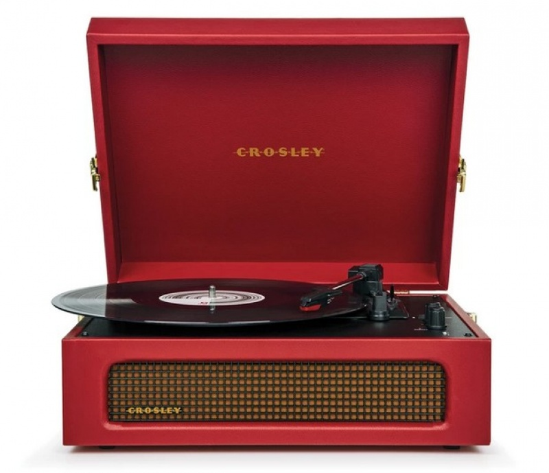 Crosley Voyager Burgundy Red