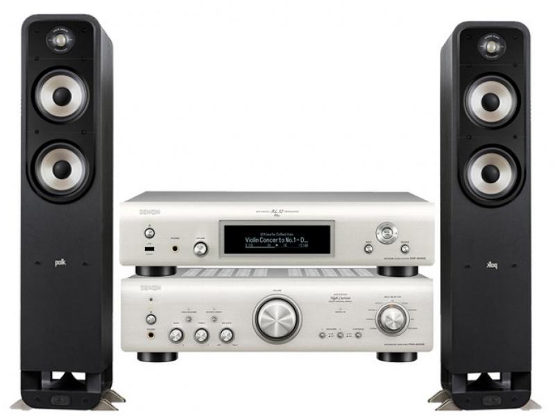 Denon PMA-800NE + Denon DNP-800NE Silver + Polk Audio S55e Black