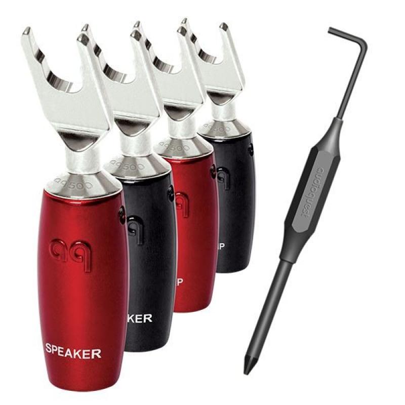 Audioquest 500 Series Multi-Spade (set 4ks) - vidličky stříbrné