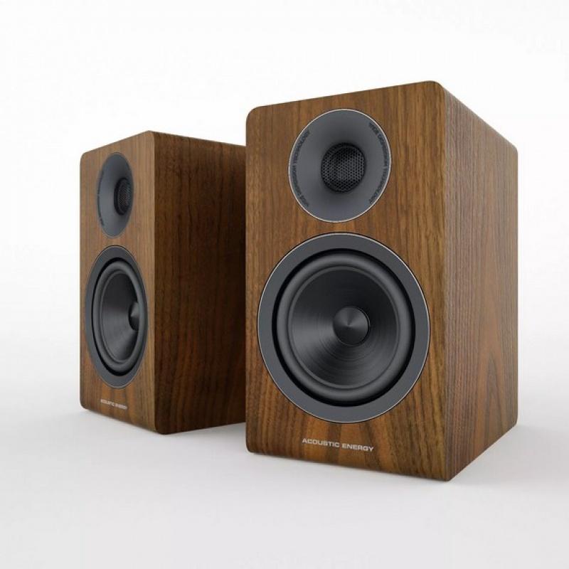 Acoustic Energy AE300 Real Walnut Wood Veneer