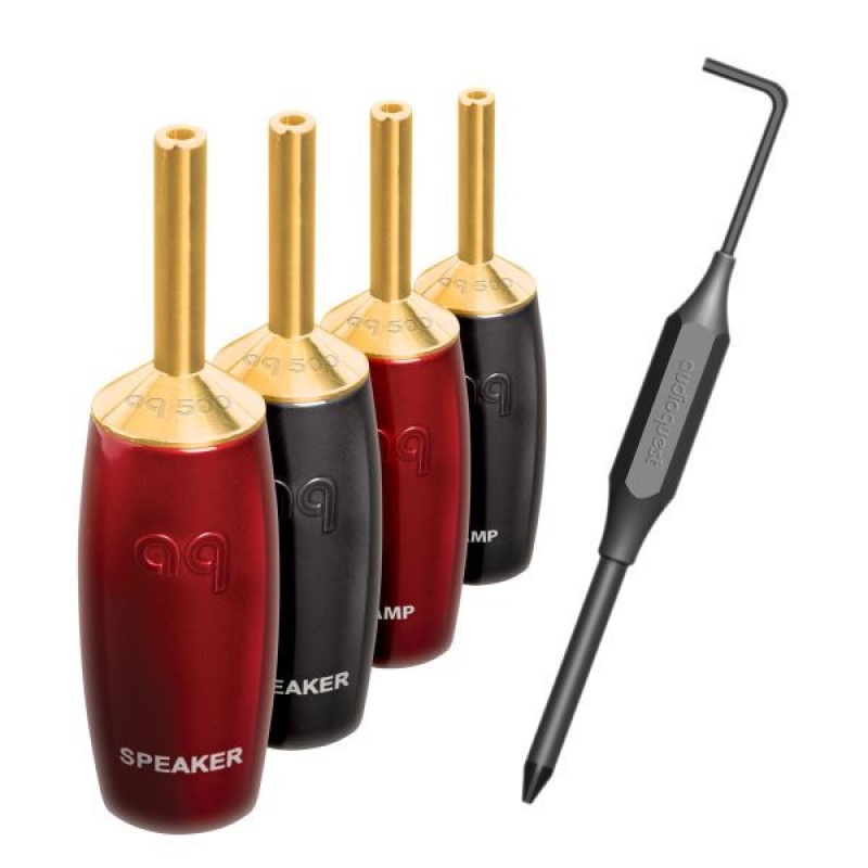 Audioquest 500 Series Banana gold (set 6 ks)