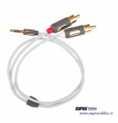 Signálny kábel Supra MP-CABLE MINI PLUG-2RCA - 1m