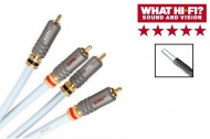 RCA-cinch signálny kábel SUPRA EFF - ISL, dĺžka 1 meter