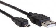 AQ KCE018 - kábel Mini USB 8pin M - USB 2.0 A M, dĺžka 1,8 m