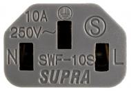 Síťový kabel Supra LoRad 2.5 CS-EU Silver Anniversary - 10-16A, délka 3m