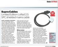 Síťový kabel Supra LoRad 2.5 CS-EU Silver Anniversary - 10-16A BENT, délka 1m
