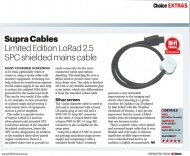 Síťový kabel Supra LoRad 2.5 CS-EU Silver Anniversary - 10-16A BENT, délka 2m