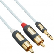 Signálový kabel Supra MP-CABLE MINI PLUG-2RCA