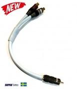 Y-Link adaptér pre subwoofery SUPRA Y-LINK 1RCA-2RCA MF BLUE 25CM