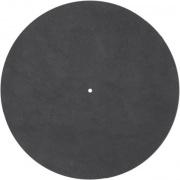Kožená podložka taniera gramofónu čierna