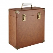 GPO Vinyl Record Case Brown