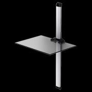 Police pre AV komponenty PL 2610 čiré sklo/stříbrná lišta