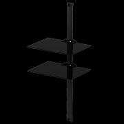 Police pre AV komponenty PL 2620 čierne sklo/čierna lišta