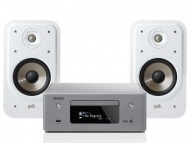 Denon RCD-N10 Gray + Polk Audio S20e White