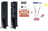 Heco Aurora 700 Black Edition + reprokabel SUPRA Rondo 4x2,5 Combicon SET 2x2,0m