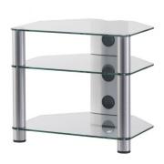 Stolík pre Hi-Fi komponenty RX 2130 čiré sklo / stříbrné nohy