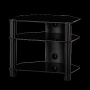 Stolík pre Hi-Fi komponenty RX 2130 čierne sklo / čierne nohy