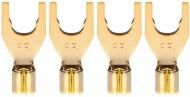 Audioquest SureGrip -Spade G - P-10M Gold Spade set 4