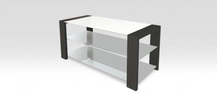 NorStone Kubben AV - dark rosewood/white glass