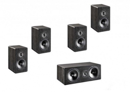 Indiana Line Tesi Home Cinema Set Small - Black Oak Vinyl