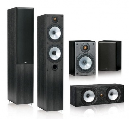 Monitor Audio Reference MR4 set 5.0 - Black Oak