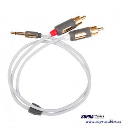 Signálový kabel Supra MP-CABLE MINI PLUG-2RCA - 1metr