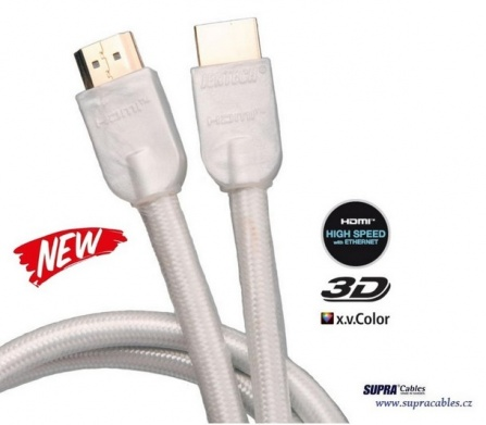 HDMI kabel SUPRA by JenTech-HDMI HIGH SPEED ETHERNET White - 3m