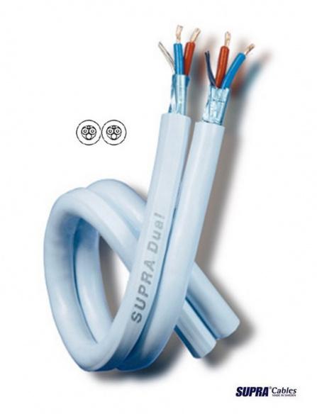 Dvojitý analogový kabel v metráži SUPRA Dual