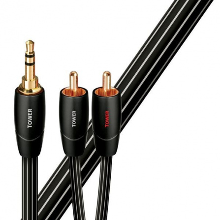 Audioquest Tower JR 1,5 m kabel audio 1x 3,5 mm - 2x RCA