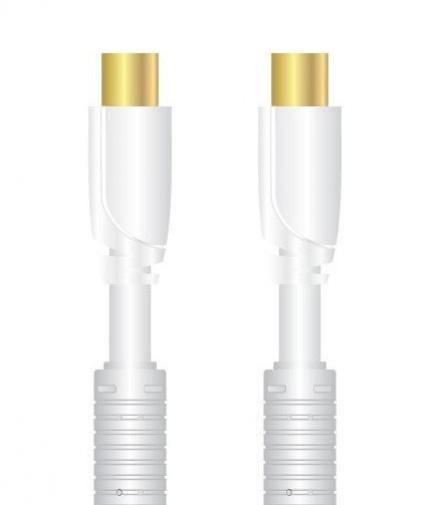 Sinox SXV8801- antenní koax + 90° adaptér, 90 dB 1,0 m