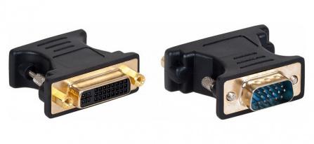 AQ KV104 - adaptér VGA ( D-sub ) M - DVI F