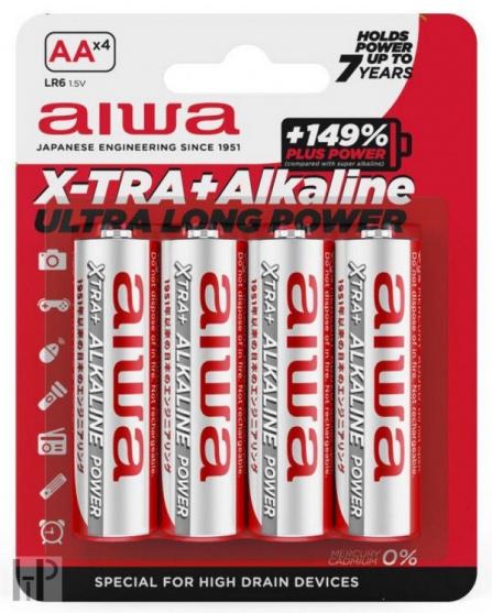 aiwa X-TRA+ Alkaline AALR6