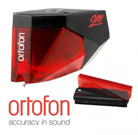 Ortofon 2M Red + Carbon Fiber Record Brush Red