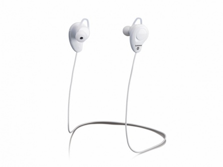Sportovní sluchátka Lenco EPB-015 bílá