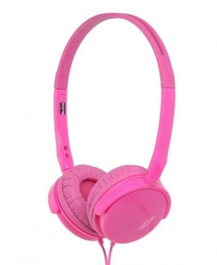 Sluchátka BigBen Colorblock Alpha růžová