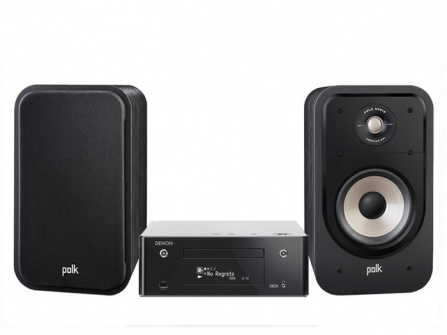 Denon RCD-N10 Black + Polk Audio S20e Black