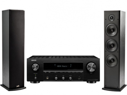 Denon DRA-800 Black + Polk Audio T50 Black