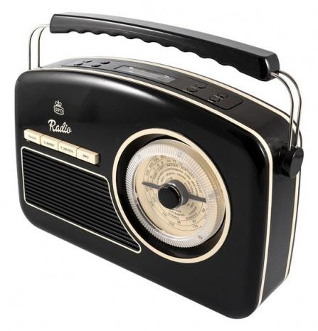 GPO Rydell Nostalgic DAB Radio Black And Cream