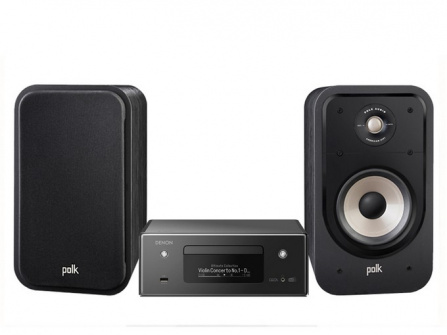 Denon RCD-N11 DAB Black + Polk Audio S20e Black