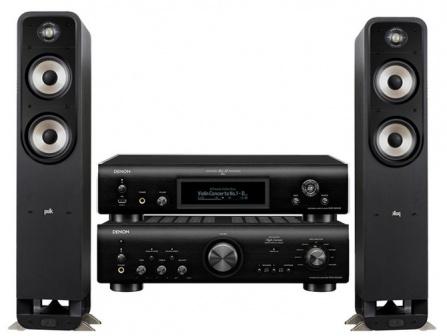 Denon PMA-800NE + Denon DNP-800NE + Polk Audio S55e Black
